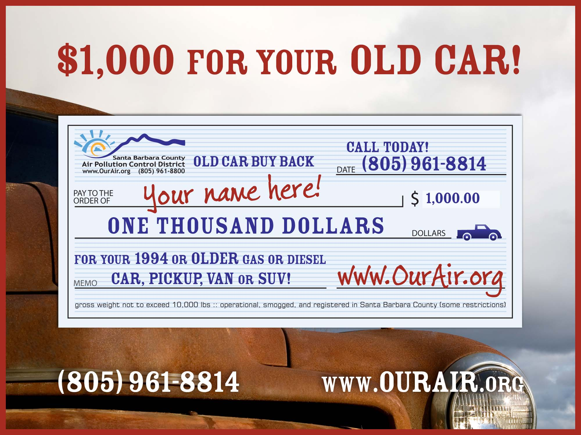Old Car Buy Back Program