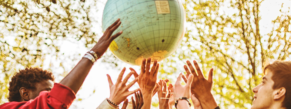 teenagers reaching the world at campus
